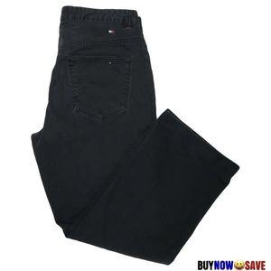 Tommy Hilfiger 12 Black Snap Front Straight Jean
